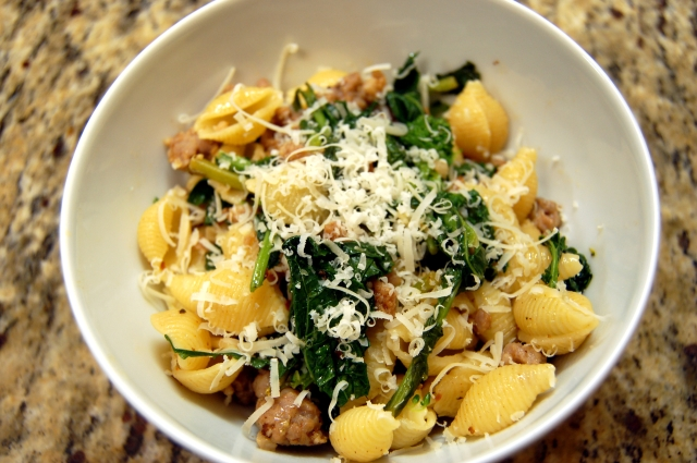 Pasta with Sausage and Broccoletti 1
