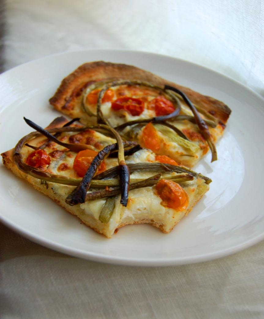 Garlic Scape Pizza