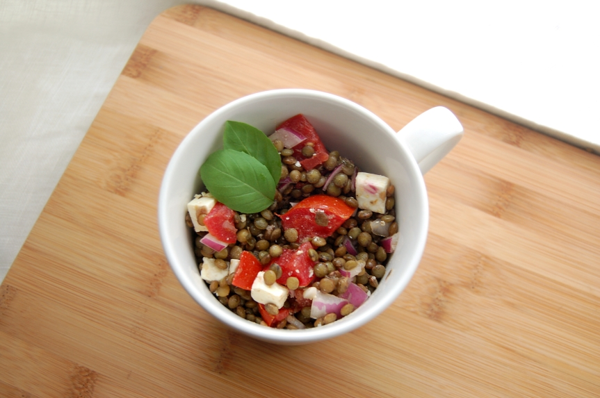Lentil Salad with Tomatoes and Feta