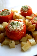 Rice-Stuffed Tomatoes alla romana